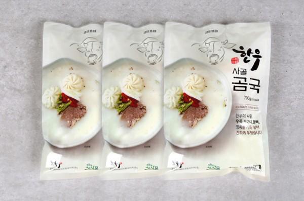 한우 사골 곰국 (750g) 3팩